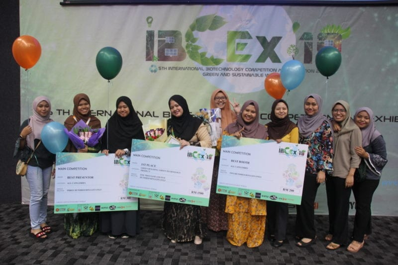 Biosciences Students Won 1st Place for Green Building/ Green Technology Product category in International Biotechnology Competition and Exhibition 2019 (IBCEX 19)