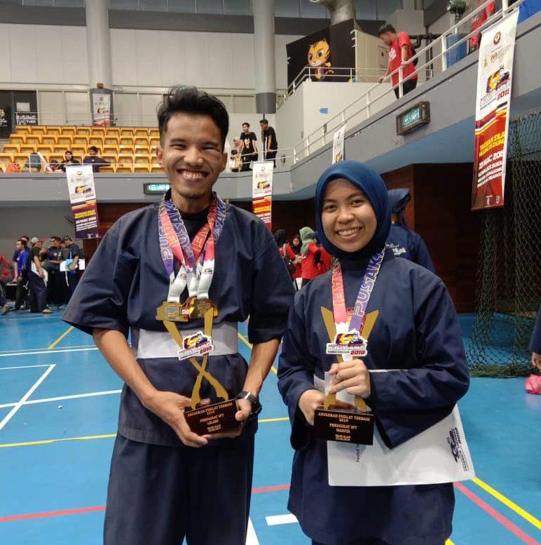 Pelajar UTM Dianugerah Pesilat Terbaik Kejuaraan Wajadiri Pusaka Hanafi 2019