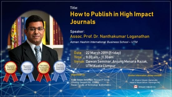 "Sesi Perkongsian Ilmu ""How to Publish in High Impact Journals"""