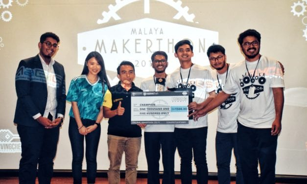 Champions of Malaya Makerthon 2019 – the team from School of Electrical Engineering did it again.