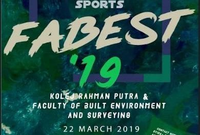 FABU's Students Representative Council and Students' Societies successfully organised Faculty of Built Environment & Surveying Sports (FABEST 2019)