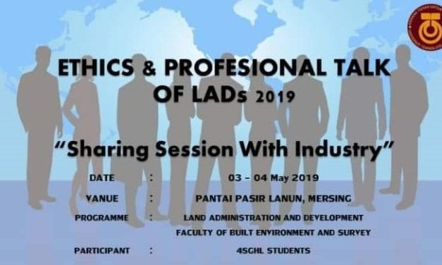 'ETHICS & PROFESSIONAL OF LADs 2019' anjuran FABU ke arah meningkatkan keterlibatan industri