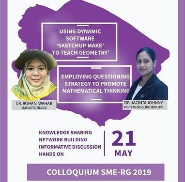 RG-SME from School of Education invites UTM Alumni  to Colloqium Session