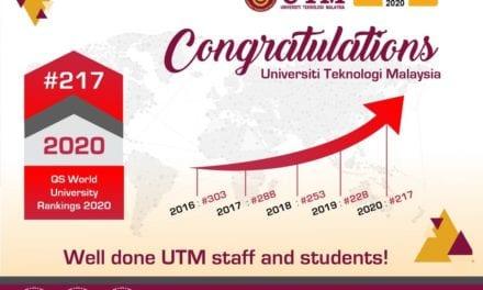 UTM kekal antara 1% universiti terbaik dunia