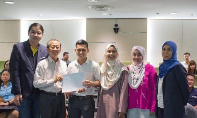 MJIIT-UTM team won IChemE POPSIG's Best Design Award 2019