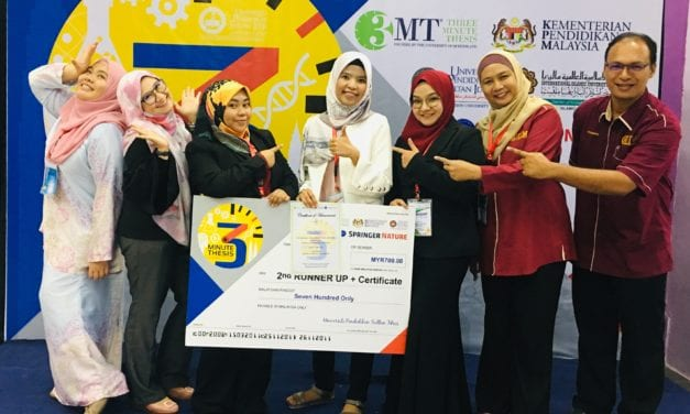 UTM PhD Student Bagged Second Runner Up at the 3 Minute Thesis Competition (3MT®)