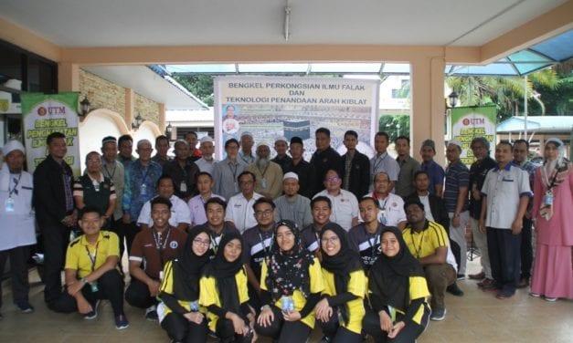 UTM Kongsi Ilmu Teknologi Penandaan Arah Kiblat Kepada Warga Negeri Perak