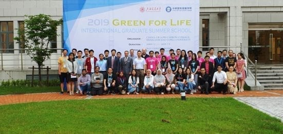 All participants of the China-UK 2019 LCC Graduate Summer School