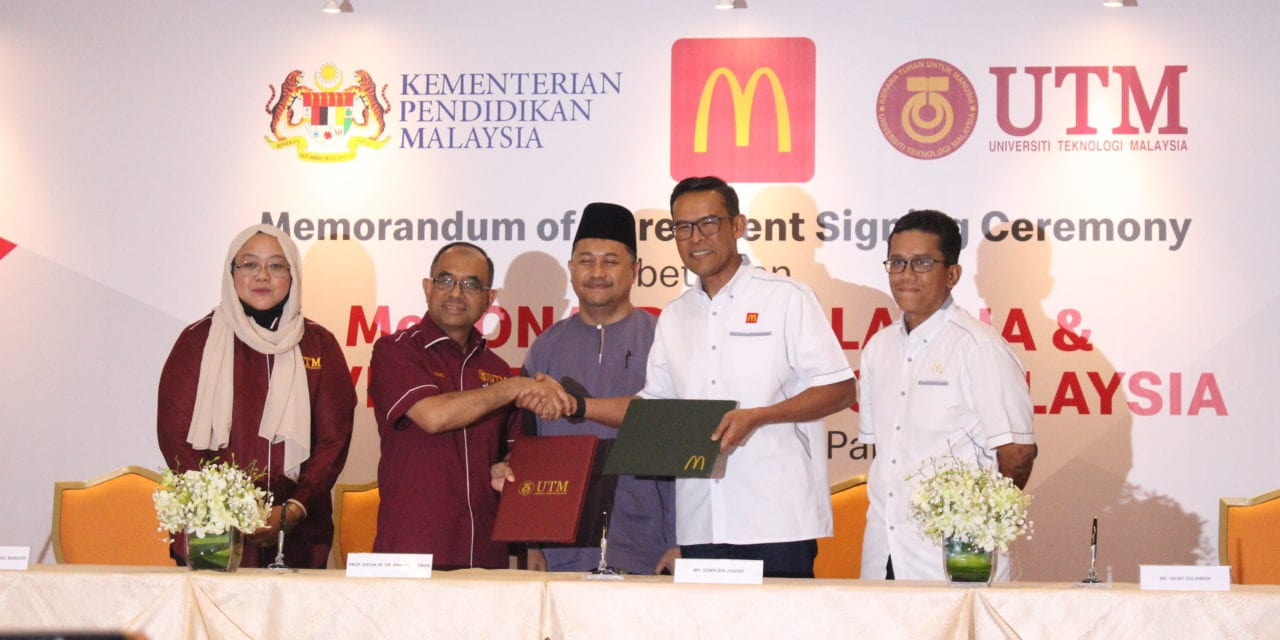 AHIBS signs MoA with McDonald's Malaysia