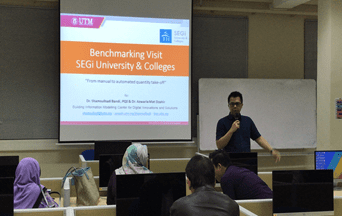 SEGi Benchmarking Visit to Quantity Surveying Program of FBES