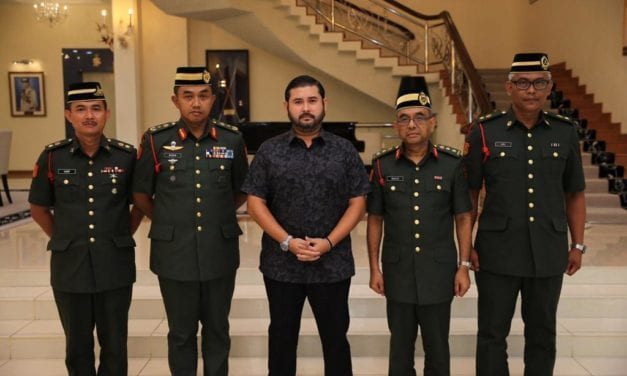 DYAM Tunku Mahkota Johor Berkenan Menyempurnakan Majlis Istiadat Pertauliahan Diraja Pegawai Kadet Palapes UA Ke-38