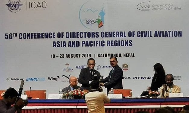 Malaysian delegates contributing papers for Civil Aviation conference in Nepal