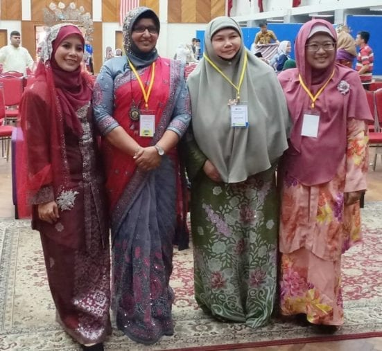 From L to R: Dr Seriaznita, Dr Sarimah, Jameela Hanoon and Dr Norhayati