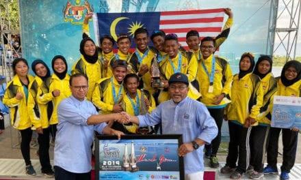 5 Pelajar UTM Bantu PST-KPM Juarai Varsity Boat Race 2019 Dengan Pungutan 2 Emas, 3 Perak