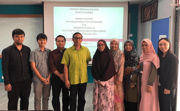 UNAND Students exposed to learning, teaching and research environment at Faculty of Science UTM
