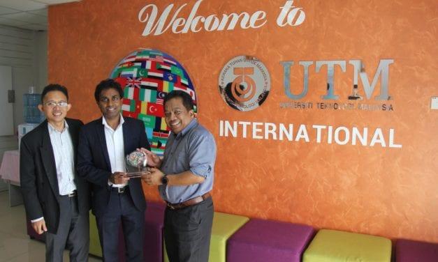 Visit by Professor Hassan Ugail to UTM as part of WTUN Exchange Program