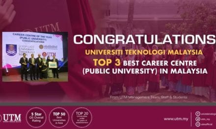 UTM Career Centre (CC) Among the Best 3 Career Centers in Malaysia