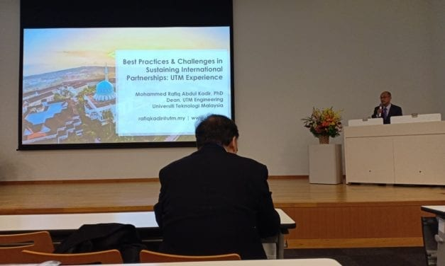 UTM as Plenary Speaker on Sustaining International Partnerships in Japan JAGCE's National Convention