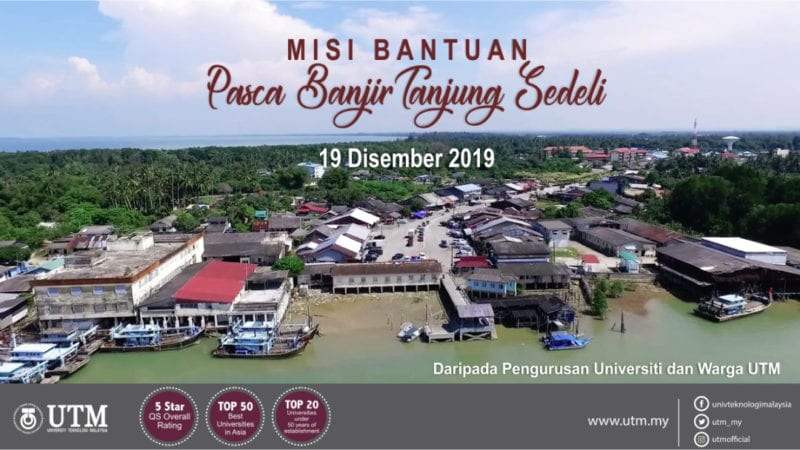 UTM Kumpul 80 Sukarelawan untuk Misi Bantuan Banjir di Tanjung Sedili