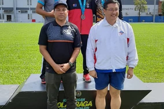 Dr Wan Zakri's 1 gold and 1 bronze assist Johor to finish sixth in the National MAKSAK Athletics Tournament 2019