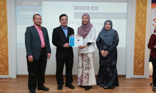 "MJIIT students secured several awards in ""e-Portfolio and Video CV Competition 2019"" organized by Office of Undergraduate Studies, UTM Johor Bahru"