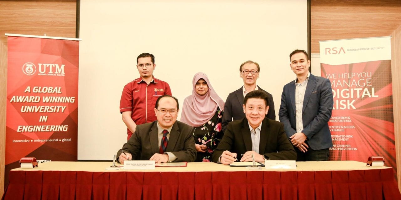 Signing Ceremony Between UTM-MJIIT & RSA (EMC Computer System, Malaysia)