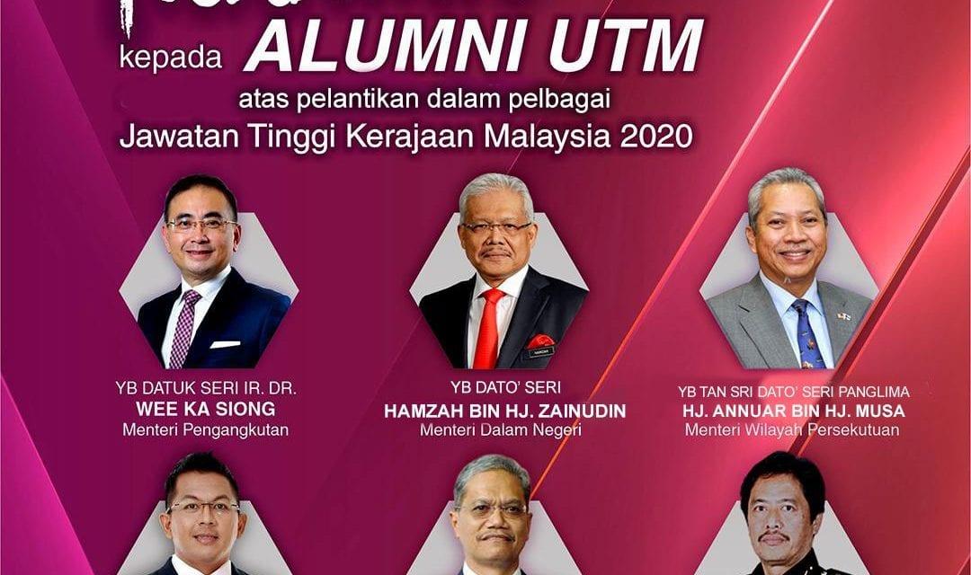 Enam Alumni UTM Dilantik Terajui Negara