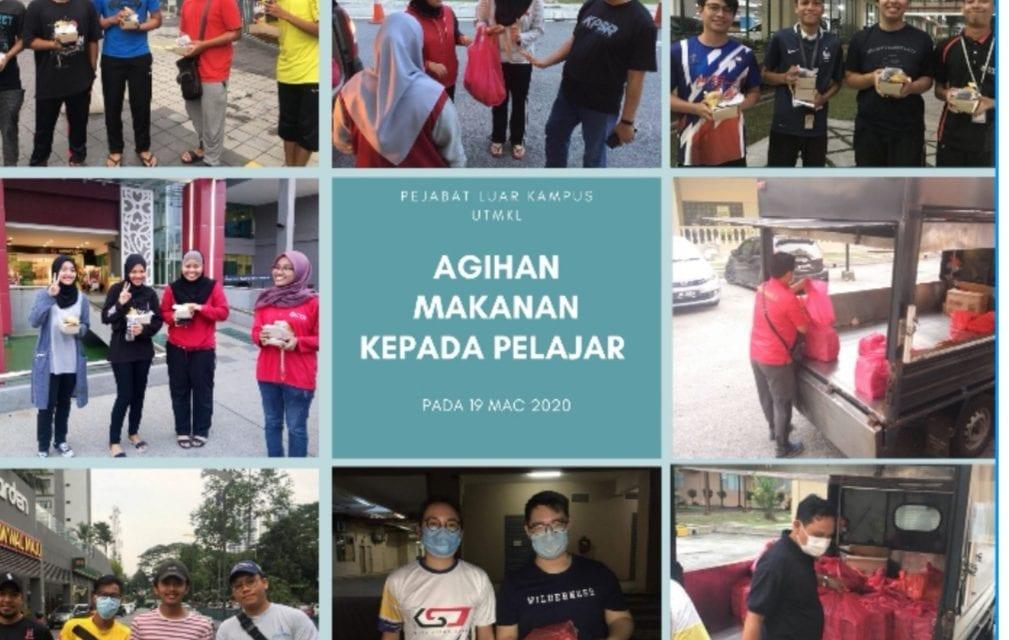 Mahasiswa UTMKL terima sumbangan makanan Yayasan Raja Zarith Negeri Johor
