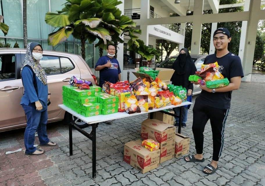 FABU sumbang bantuan makanan kepada mahasiswanya