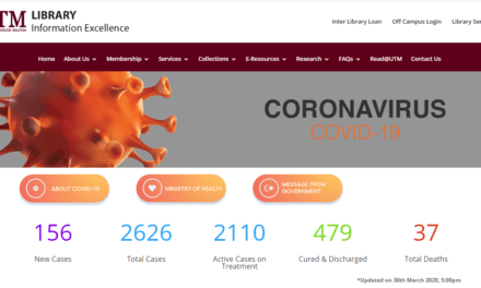 UTM Library Develops Covid-19 Information Platform