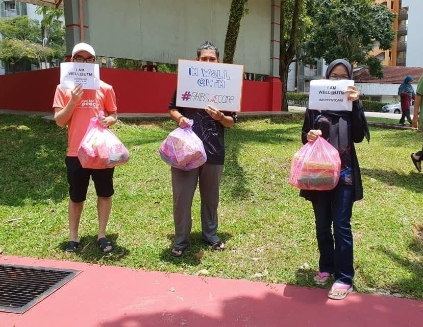 AHIBS Distributed Food Packs to Students Staying in UTM During MCO