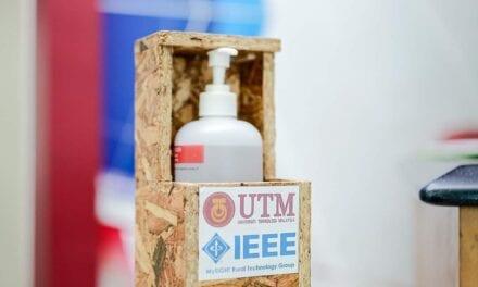 UTMKL Terima Sumbangan Sanitizer 'Hands-Free' Dari FTIR