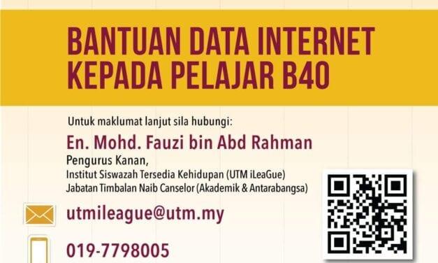 Bantuan Pelan Internet kepada Mahasiswa B40 UTM