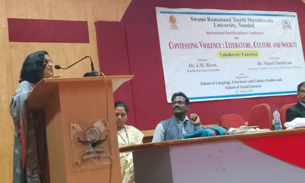 Dr Shanti Chief Guest at the International Interdisciplinary Conference on Contesting Violence: Literature, Culture and Society