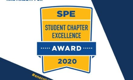 SPE-UTM SC Awarded Student Chapter Excellence Award for 2020.