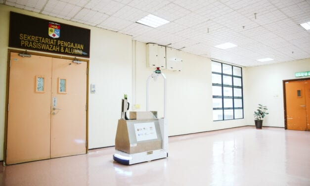 Pak Salleh, the Spray Disinfection Robot from UTM-DF-HCTM to Combat Covid-19 Pandemic