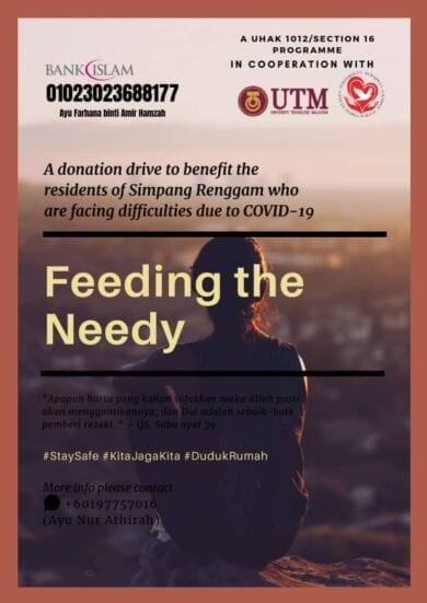 Poster Program Feeding The Needy Simpang Renggam