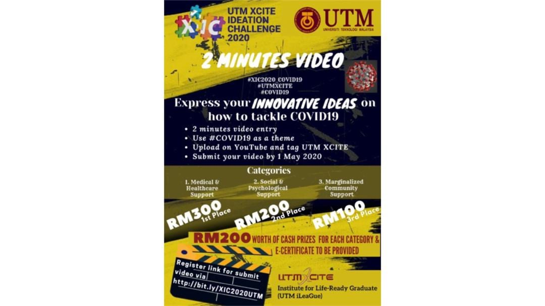 UTM XCITE IDEATION CHALLENGE 2020 Exposes Students Innovative Talents