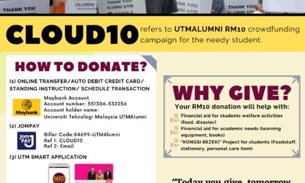 CLOUD10 Subur Budaya Memberi Staf dan Alumni UTM