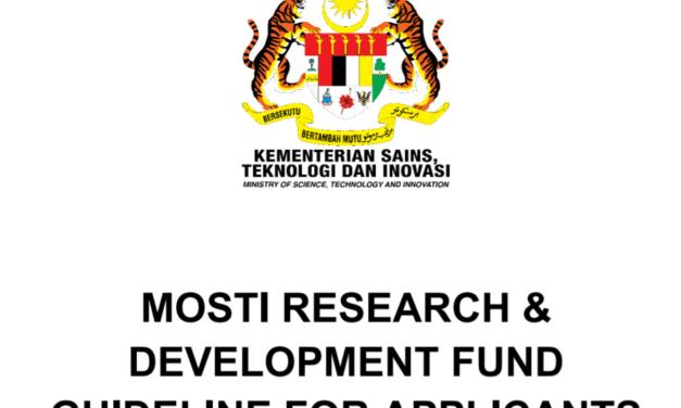 Permohonan Dana R&D MOSTI sehingga RM3 Juta