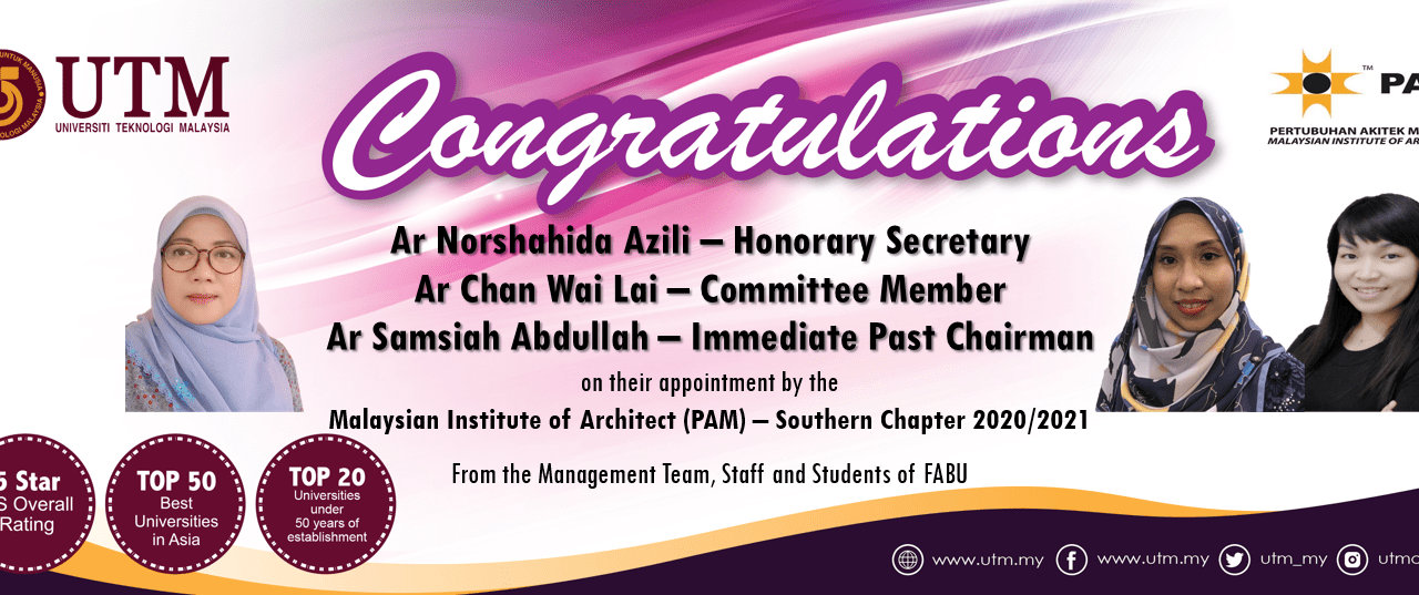 The Appointment of Pertubuhan Arkitek Malaysia Southern Chapter Board Members