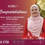 Two UTM researchers bagged several awards at iCAN 2020