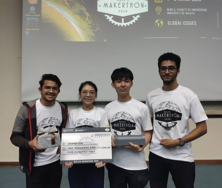 UTM Won Malaya Makerthon 2020 & Make it Challenge 2020 Competitions
