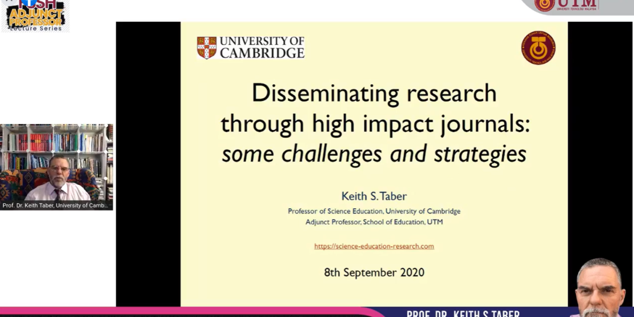 Disseminating Research through High Impact Journals via FSSH Adjunct Professor Series