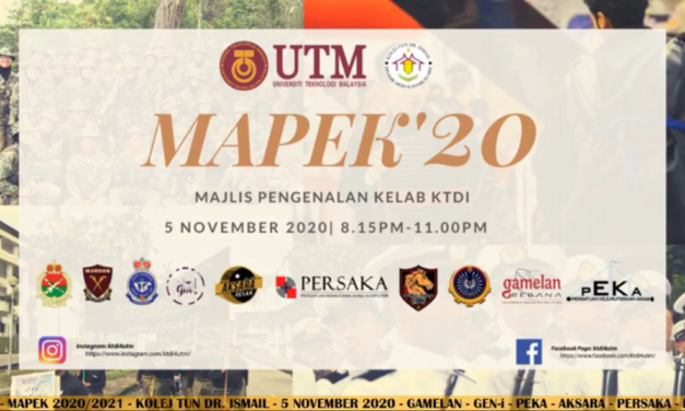 MAPEK'20 Introduces KTDI Clubs to 1st Year Students