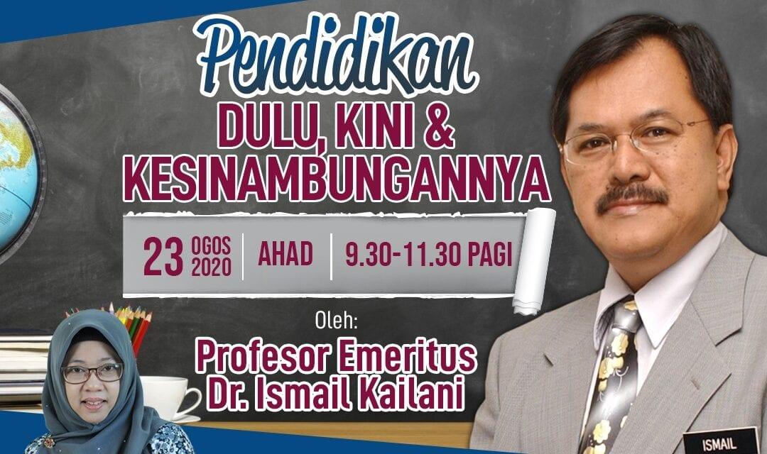 Prof. Emeritus Dr. Ismail Kailani Kongsi Suka Duka Dunia Pendidikan di UTM