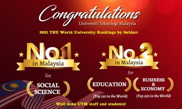 No. 1 in Social Science Subject by THE, UTM Now Soars Higher