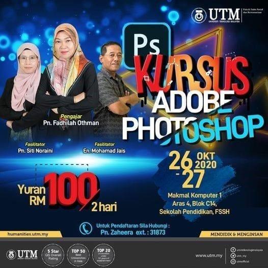 Kursus Adobe Photoshop – Peluang Staf PPP FSSH Menyumbang Ilmu dan Kepakaran