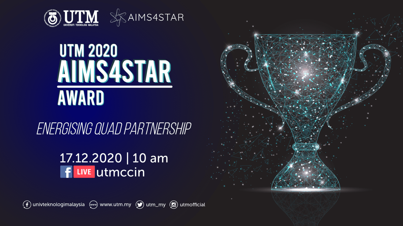 UTM 2020 AIMS4STAR Award Recognizes Industry Partners Contributions