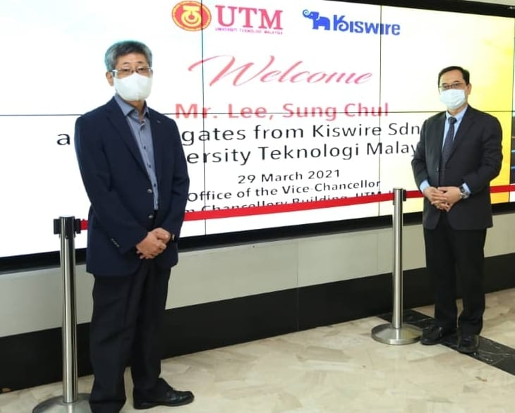 UTM VC Received Courtesy Visit From Kiswire